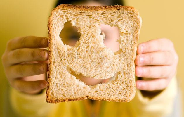 bread face smile
